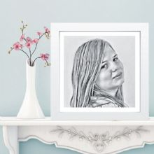 Charcoal Effect Portrait - Customised Digital Illustration - Ideal Gift - Unique Keepsake